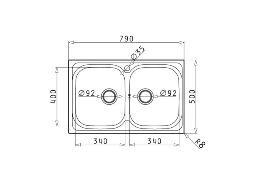 PYRAMIS - AMALTIA (79X50) 2B - Νεροχύτες - Εξοπλισμός Κουζίνας