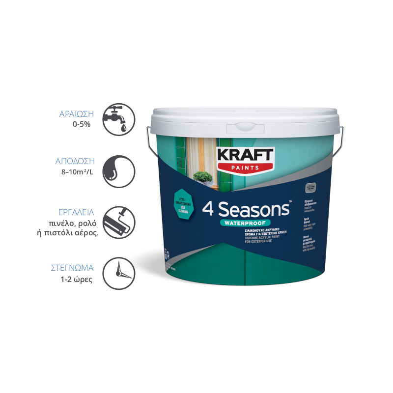 Kraft Paints - 4SEASONS Waterproof