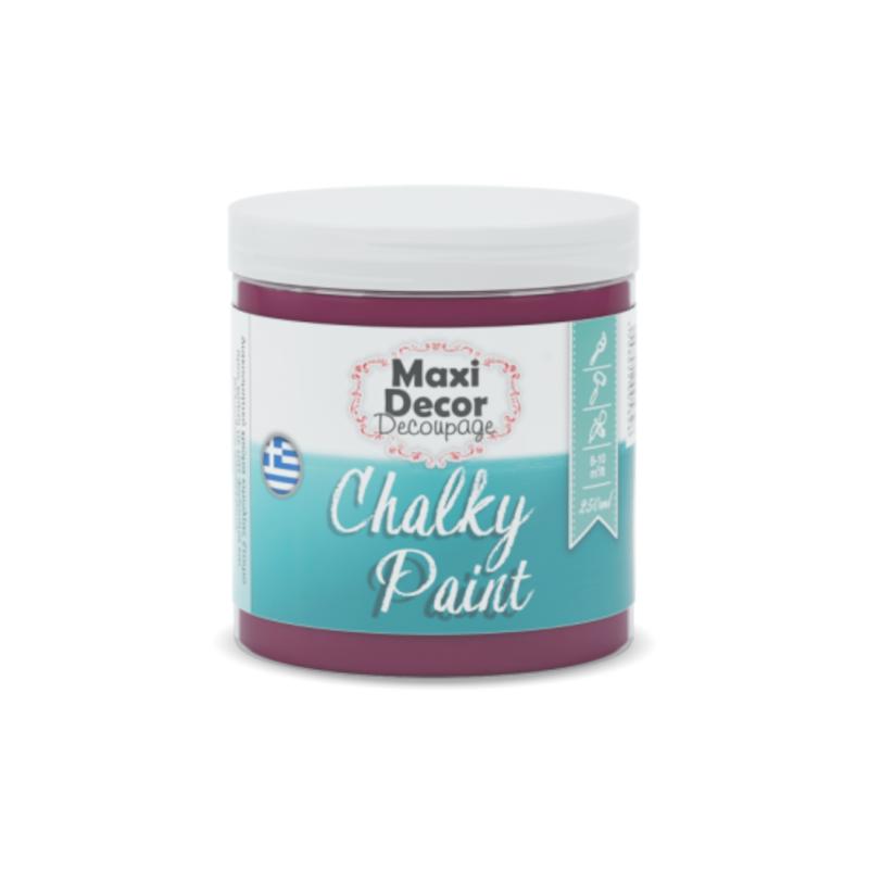 Maxi Decor – Chalky Paint 602 Μούρο Χρώμα Κιμωλίας
