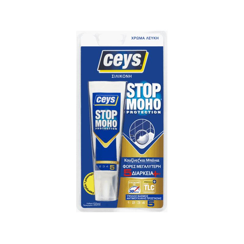 Ceys - Stop Moho Αντιμουχλική Σιλικόνη Λευκή Φύσ. 50ml