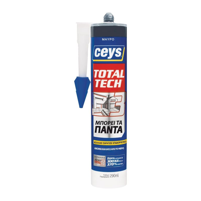 Ceys - Total Tech Σφραγιστική Συγκολλητική Μαστίχη Μαύρη 290ml
