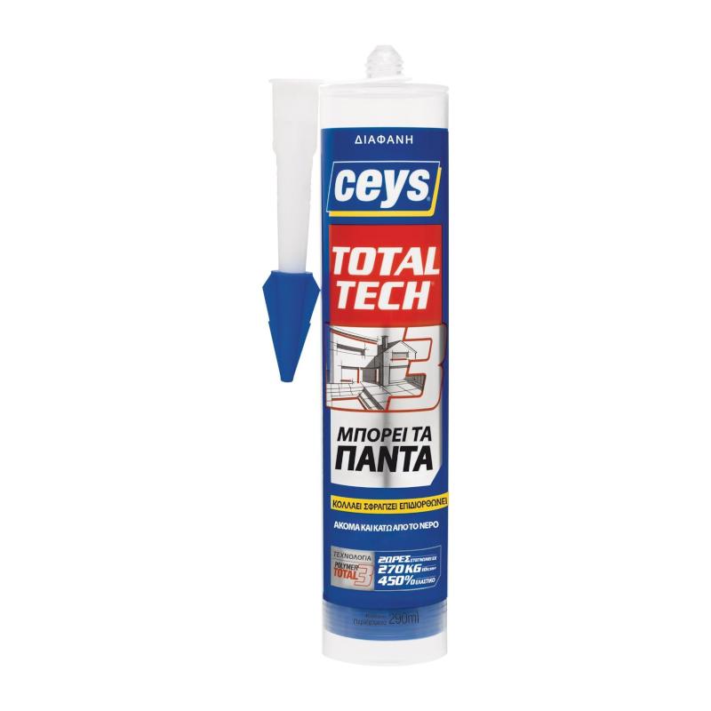Ceys - Total Tech Σφραγιστική Συγκολλητική Μαστίχη Διάφανη 290ml