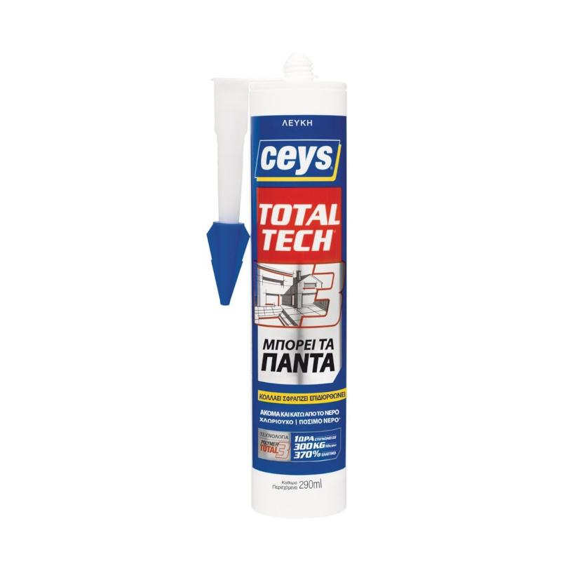 Ceys - Total Tech Σφραγιστική Συγκολλητική Μαστίχη Λευκή 290ml