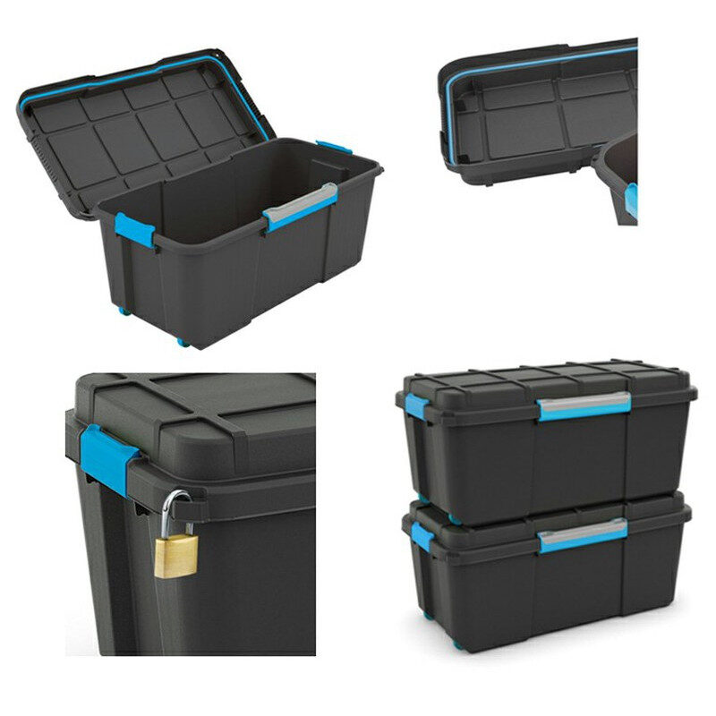 Kis - Scuba Box 74lt Κουτί Αποθήκευσης Μαύρο