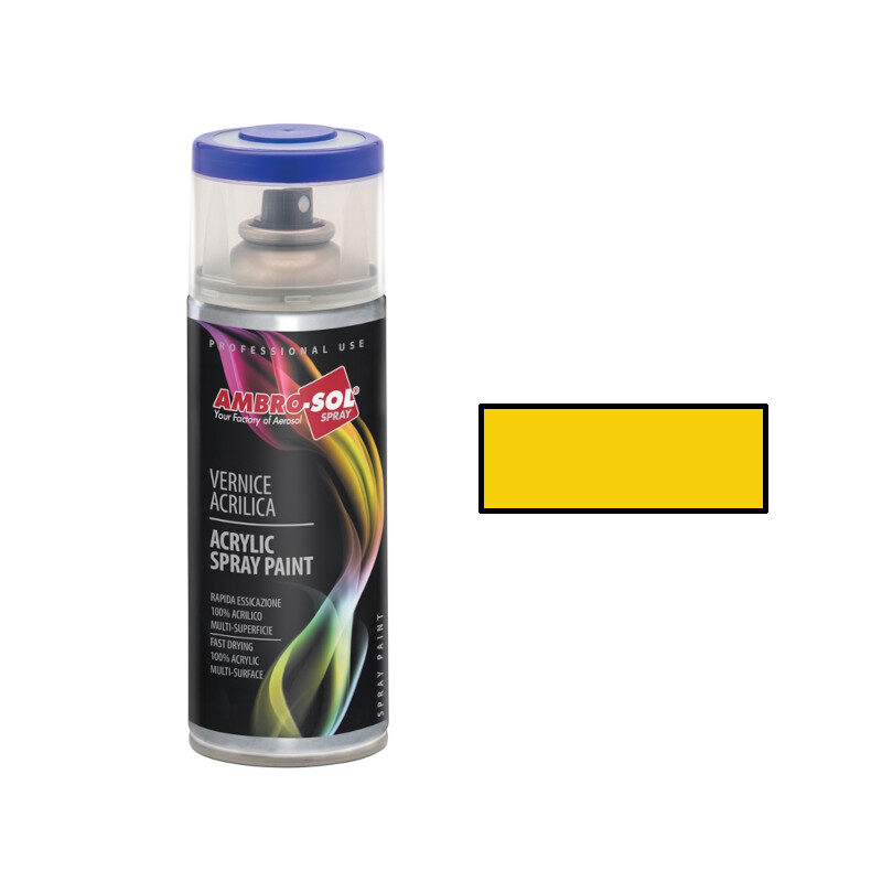 AmbroSol - Σπρέι γενικής χρήσης 400ml - (RAL1023) Κίτρινο Κεχριμπάρι
