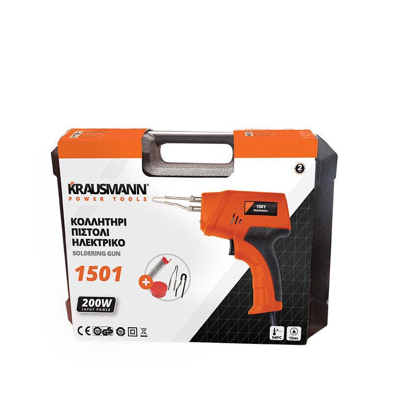 Krausmann – 1501 Κολλητήρι Πιστόλι Ηλεκτρικό 200W