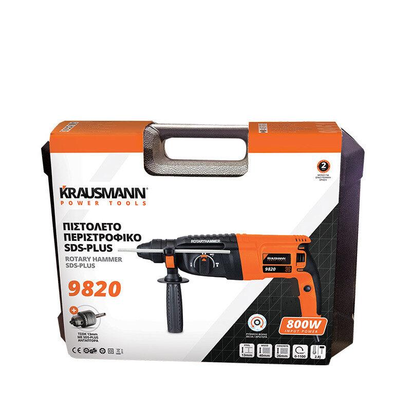 Krausman – 9820 Πιστολέτο Περιστροφικό SDS-Plus 2.8J 800W