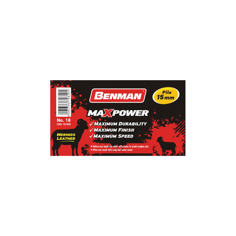 Benman - Maxpower Ρολό Δερμάτινο Από Αυθεντικό Δέρμα Merinos 18cm