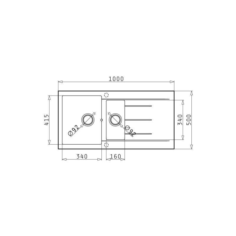 PYRAMIS - ALAZIA (100X50) 1 1/2B 1D Beige Νεροχύτης