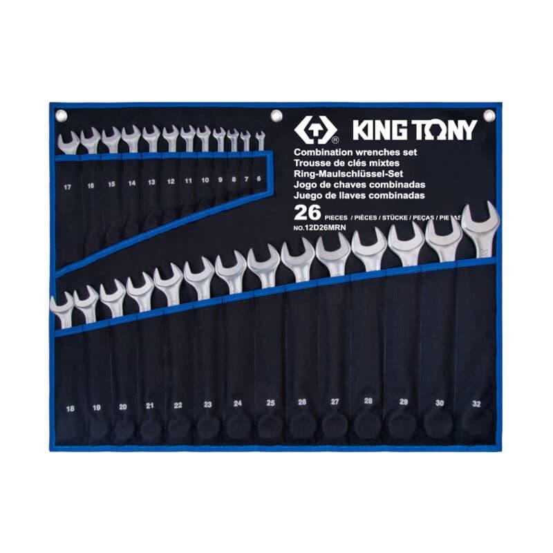 King Tony- 12D26MRΝ Σετ Γερμανοπολύγωνα 26τμχ σε Θήκη Tetoron
